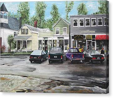 Canvas Print featuring the painting After The Rain by Stuart B Yaeger