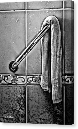 After The Shower - Bw Canvas Print by Christopher Holmes