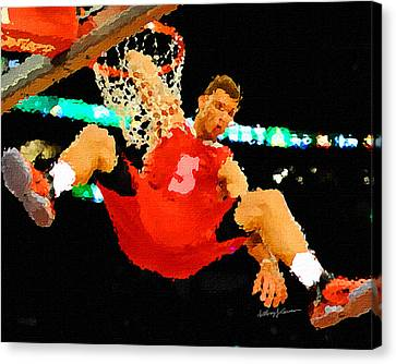 After The Slam Dunk Canvas Print by Anthony Caruso