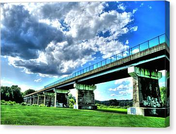 Afternoon By The Bridge 1 Canvas Print by Heather  Boyd