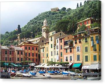 Afternoon In Portofino Canvas Print by Marilyn Dunlap