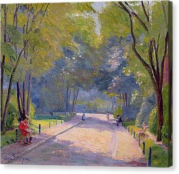 Afternoon In The Park Canvas Print by Hippolyte Petitjean