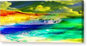 Sun Rays Canvas Print - Afternoon Seascape by Phill Petrovic