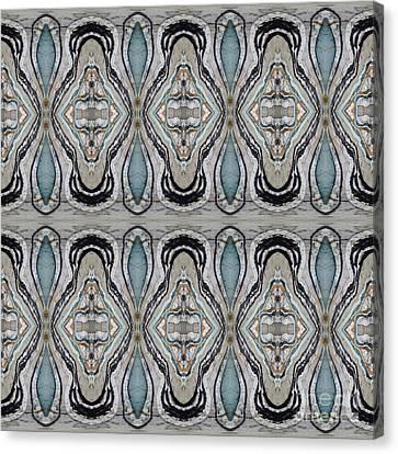 Agate-38e Border Tiled Canvas Print by Sue Duda
