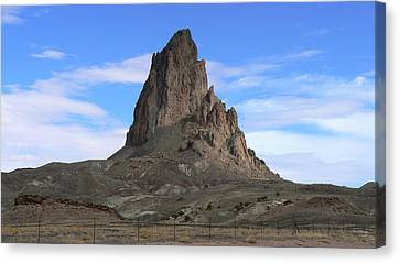 Canvas Print featuring the photograph Agathla Peak by Scott Rackers