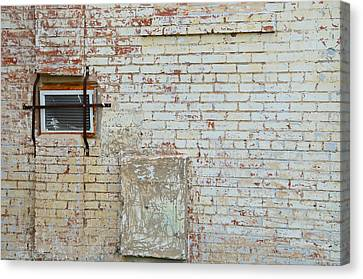 Aged Brick Wall With Character Canvas Print by Nikki Marie Smith