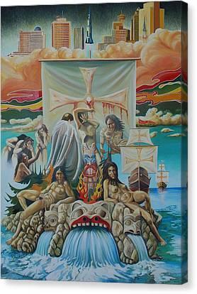 Agony Of A Nation Canvas Print by Santo De Vita