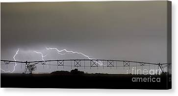 Agricultural Irrigation Lightning Bolts Canvas Print by James BO  Insogna