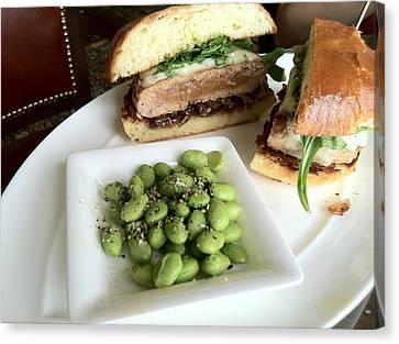 Ahi Tuna Sandwich At Pebble Beach Canvas Print by GuitarGeeks Photography