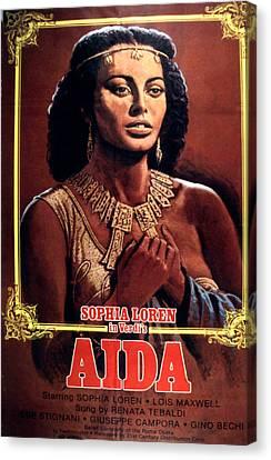 Aida, Sophia Loren, 1953 Canvas Print