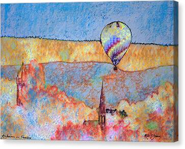 Air Balloon Over Peeebles Canvas Print by Richard James Digance
