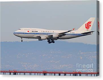 Air China Airlines Jet Airplane At San Francisco International Airport Sfo . 7d12272 Canvas Print by Wingsdomain Art and Photography