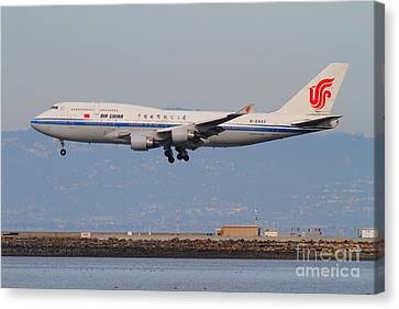 Air China Airlines Jet Airplane At San Francisco International Airport Sfo . 7d12273 Canvas Print by Wingsdomain Art and Photography