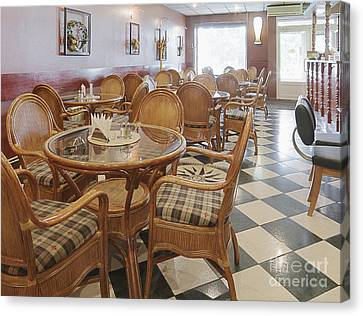 Air Conditioned Cafe Canvas Print