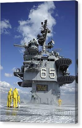 Air Department Sailors Test Canvas Print by Stocktrek Images