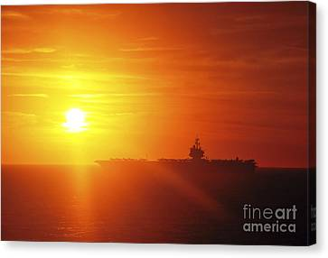 Aircraft Carrier Uss Enterprise Canvas Print by Stocktrek Images