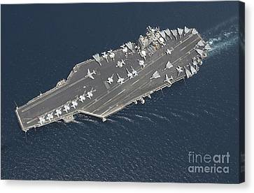 Aircraft Carrier Uss George Washington Canvas Print by Stocktrek Images