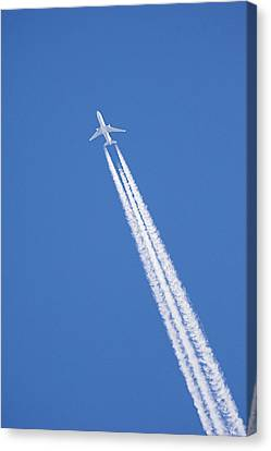 Aircraft Contrail Canvas Print by Duncan Shaw
