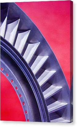 Aircraft Engine Fan Component Canvas Print by Mark Williamson
