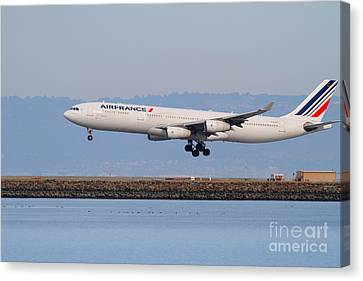Airfrance Airlines Jet Airplane At San Francisco International Airport Sfo . 7d12223 Canvas Print by Wingsdomain Art and Photography