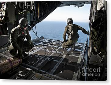 Airmen Wait For The Signal To Deploy Canvas Print by Stocktrek Images