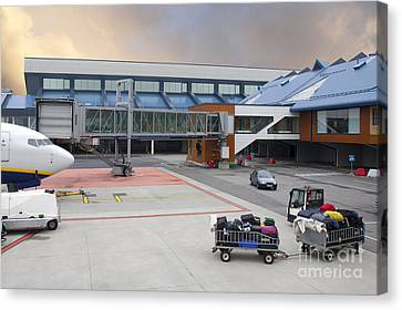 Airport Gate Arrival Canvas Print by Jaak Nilson