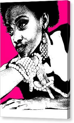 Night Out Canvas Print - Aisha Pink by Naxart Studio