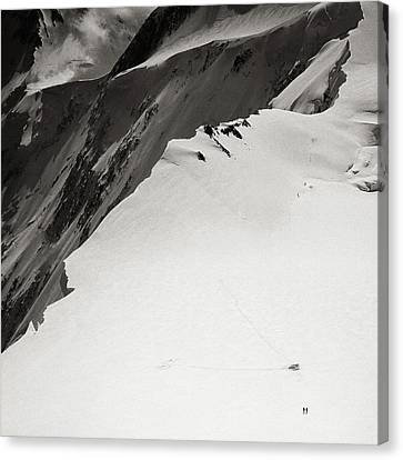 Akkem Wall. Western Plateau Canvas Print by Konstantin Dikovsky