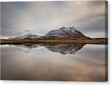 Akrafjall, Icelandic Mountain Canvas Print by Johann S. Karlsson