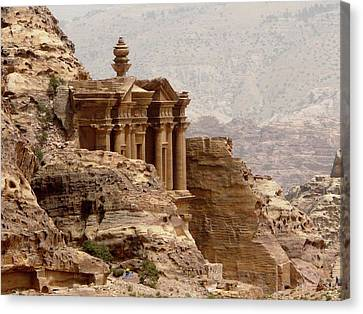 Al-deir (monastery) Canvas Print by Cute Kitten Images
