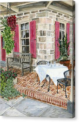 Al Fresco At The Carversville Inn Canvas Print