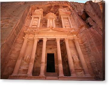 Al Khazneh (the Treasury), Petra, Jordan Canvas Print by Joe & Clair Carnegie / Libyan Soup