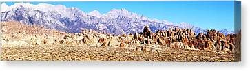 Alabama Hills Panorama Canvas Print by Michael Courtney