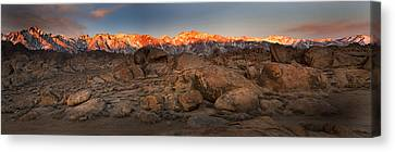 Alabama Hills Sunrise Canvas Print