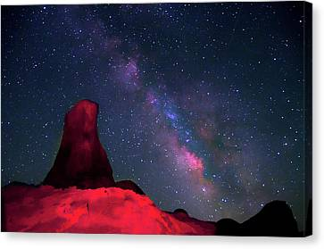 Alabama Hills Tower And Milky Way Canvas Print by Bill Wight CA