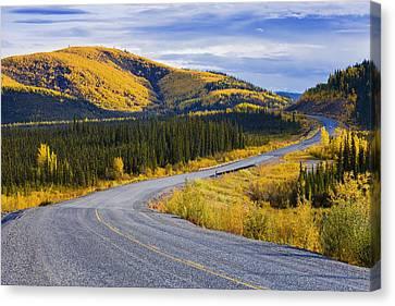 Alaska Highway Near Beaver Creek Canvas Print by Yves Marcoux