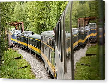 Alaska Railroad Four Canvas Print by Josh Whalen