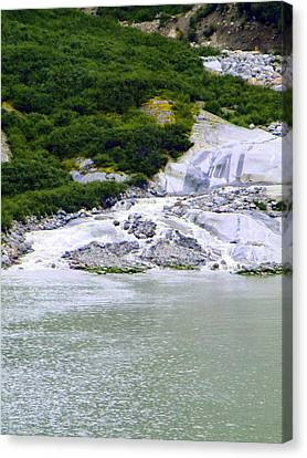 Alaskan Ice Melt Canvas Print by Mindy Newman