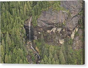 Alaskan Waterfall Arial View8888 Canvas Print by Michael Peychich