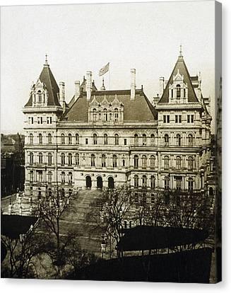 Albany New York - State Capitol Building - C 1900 Canvas Print by International  Images