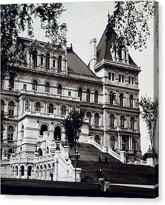 Albany New York - State Capitol Building - C 1903 Canvas Print by International  Images