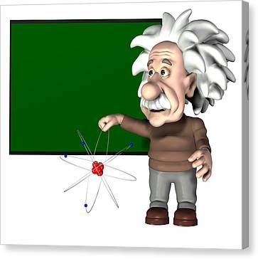 Albert Einstein, Artwork Canvas Print