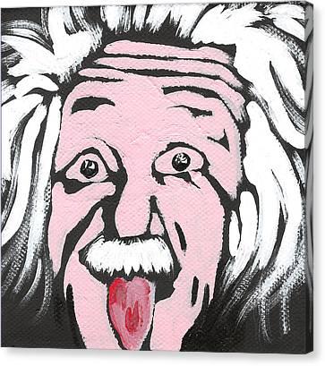 Albert Einstein Canvas Print by Jera Sky
