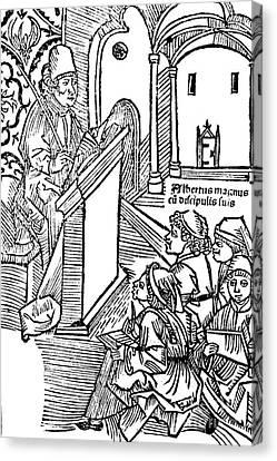 Albertus Magnus, Medieval Philosopher Canvas Print by Science Source