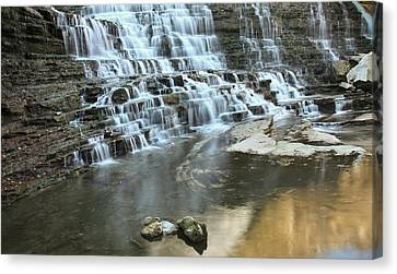 Canvas Print featuring the photograph Albion Falls-hamilton-ontario by Nick Mares