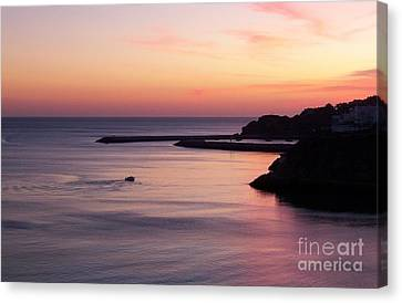 Canvas Print featuring the photograph Albuferian Sunset by Lynn Bolt