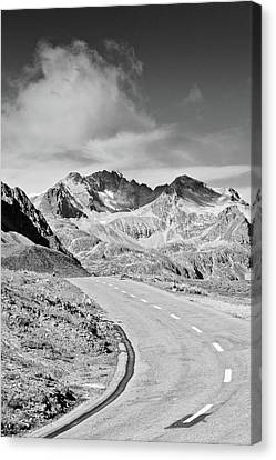 Albula Pass Road Canvas Print