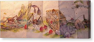 Album Of Crickets Canvas Print by Debbi Saccomanno Chan