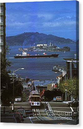 Alcatraz From San Fran Hilltop Canvas Print by Paul W Faust -  Impressions of Light
