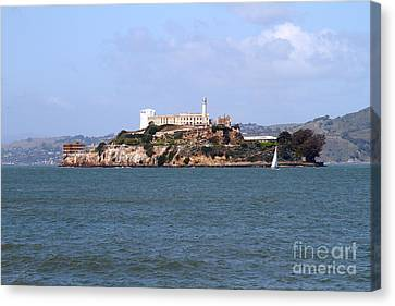 Alcatraz Island In San Francisco California . South Side . 7d14288 Canvas Print by Wingsdomain Art and Photography